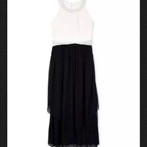 Nwt Bcx girls black n white maxi dress sleeveless